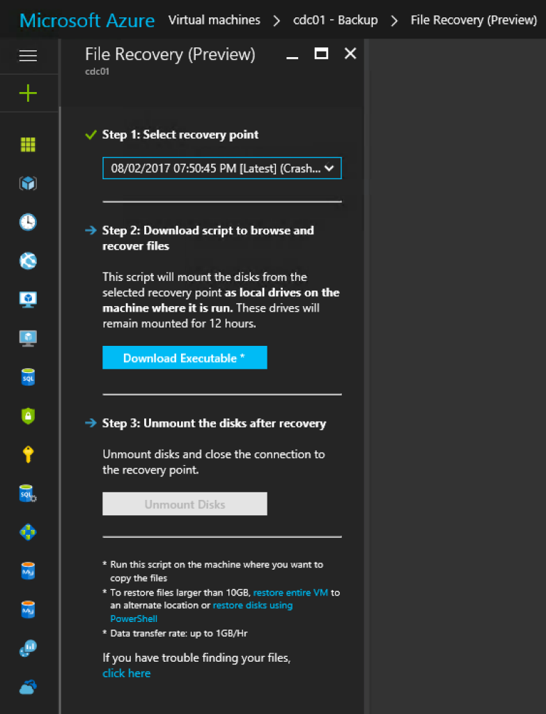 Restore-as-a-Service with Azure Backup Instant Restore