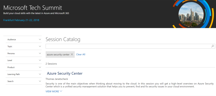 Azure Security Center Theater Session